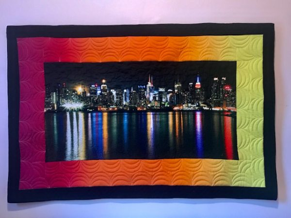 NYC skyline wall hanging, by Marijke Vroomen Durning, MyCreativeQuilts.com