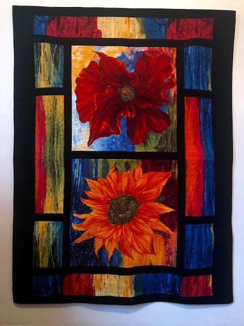 Mosaic Windows, Sunflower, by Marijke Vroomen Durning, MyCreativeQuilts.com