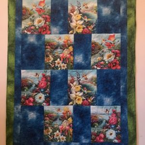 Hummingbird quilt, by Marijke Vroomen Durning, MyCreativeQuilts.com