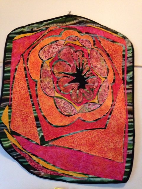 Batik explosion quilted wall hanging
