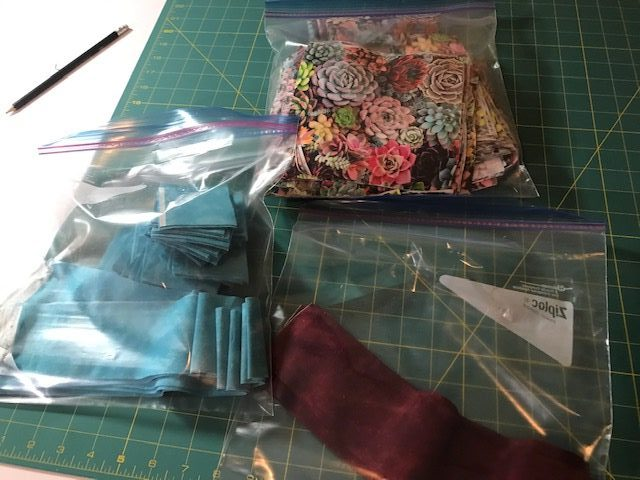 bagging up after cutting the fabric