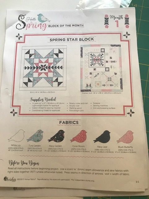 Block of the month pattern May