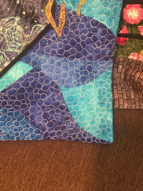 Front of Fishy FIshy - no binding, facing instead.