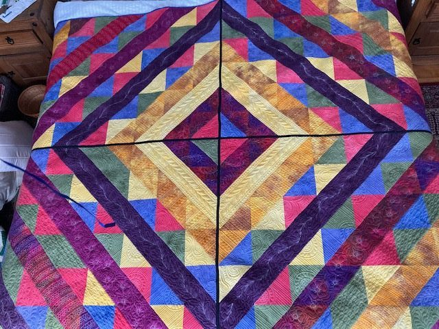 Creating My Half Square Trip Around The World Quilt
