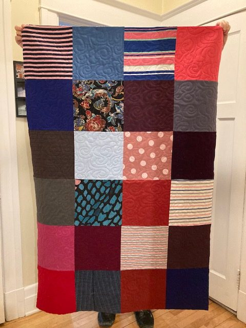 First memory quilt top finished