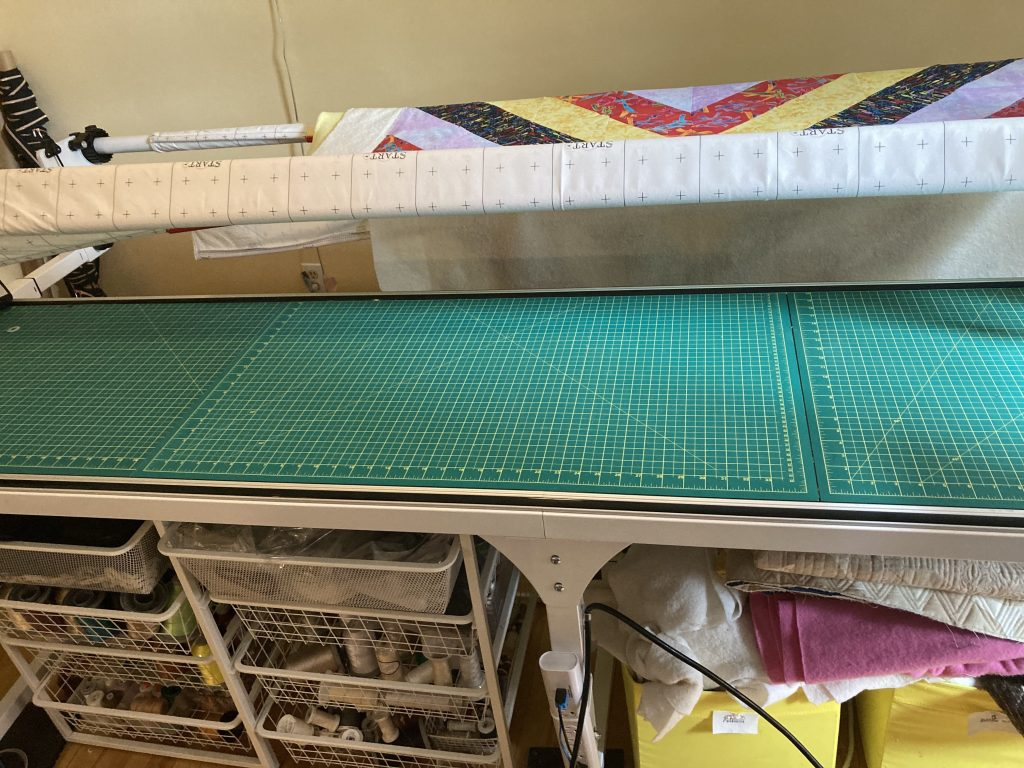 Using your frame for a table, one of many longarm hacks