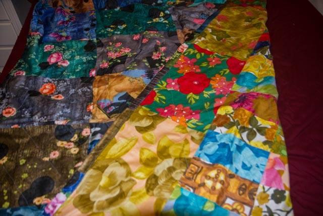 Original old quilt fabric