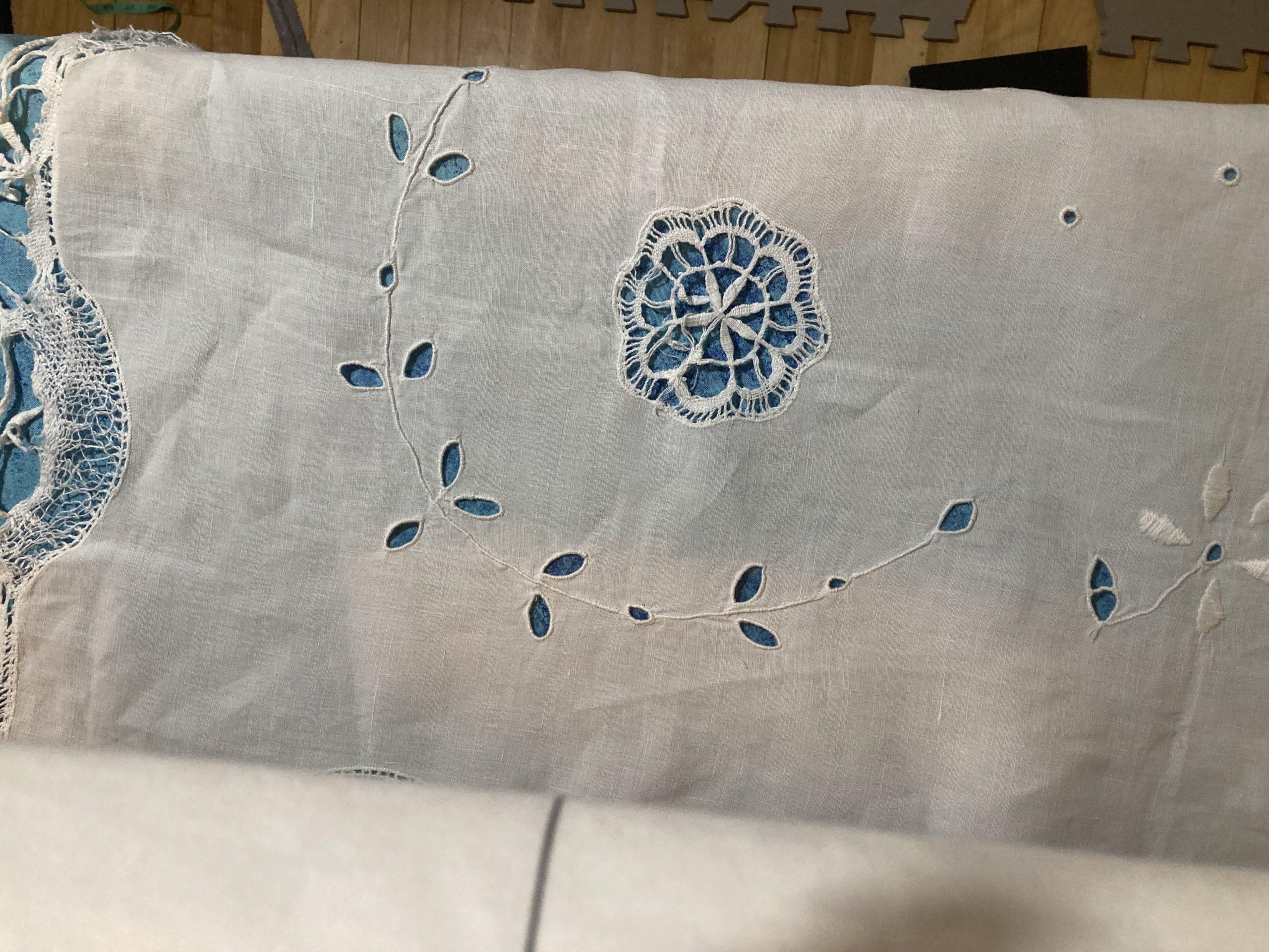 Repurposing an Antique Tablecloth into a Quilt, p.1